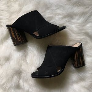 Mules with accent heel